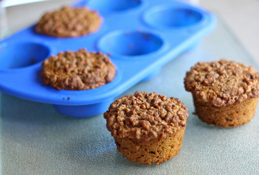 Pear Lemon Coffee Cake Muffins featuring May's Cooking Tool of the Month!